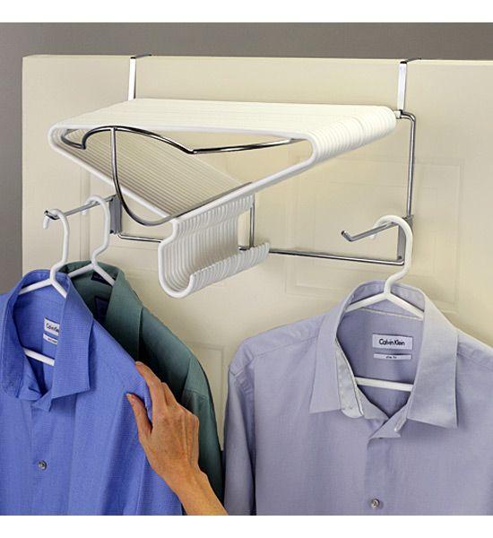 The Deluxe Over the Door Hanger Rack is a great way to organize