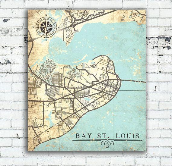 BAY St LOUIS MS Canvas Print Bay Saint Louis Mississippi Ms City