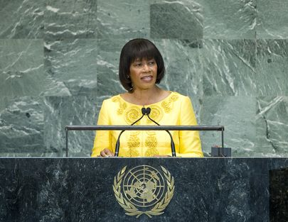 Prime Minister Of Jamaica  | United Nations Photo: Prime Minister of Jamaica Addresses the General ...