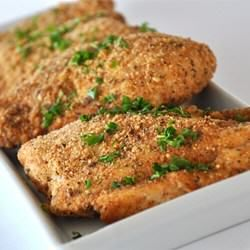 Baked Garlic Parmesan Chicken - Crescent Foods Premium All Natural Halal Chicken & Beef Products