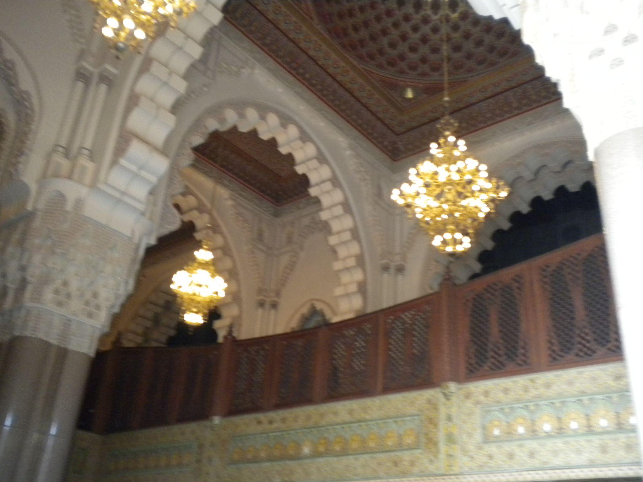 Salones interiores de la Mezquita de Casablanca