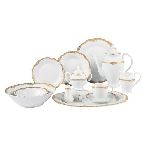 Catherine 57 Piece Dinnerware Set Service For 8 Porcelain Dinnerware Dinnerware Set Dinnerware Sets