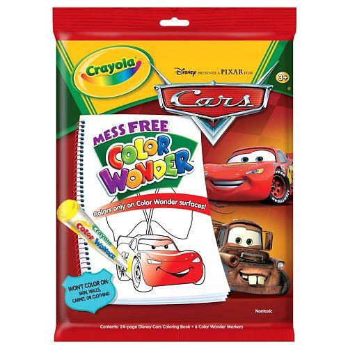 Crayola Color Wonder Disney Pixar S Cars The Movie Personalized Coloring Book Color Wonder Crayola Toys