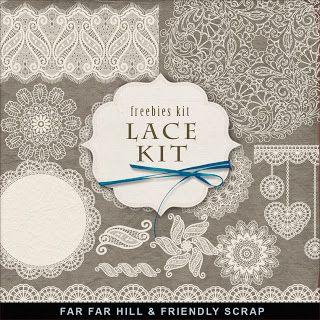 Scrapbooking TammyTags -- TT - Designer - Far Far Hill, TT - Item - Element, TT - Texture - Lace or Crochet