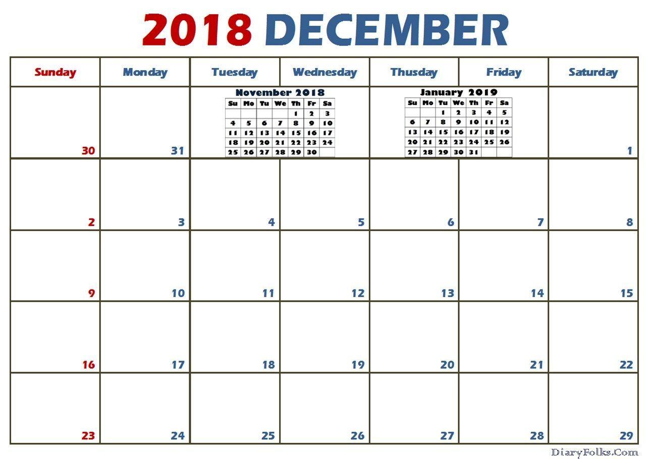 Usa Calendar For December 2018 Usa2018calendar