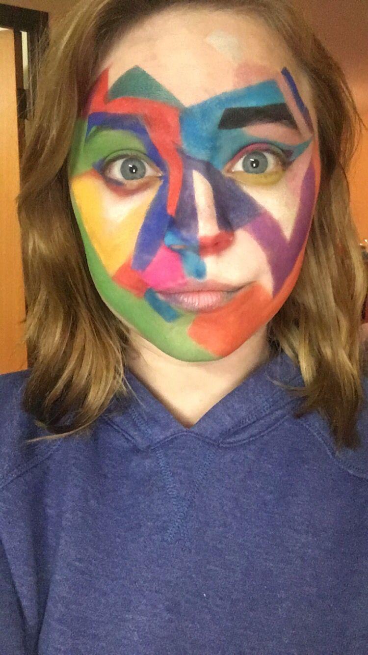 Snapchat filter artsy makeup snapchat art makeup