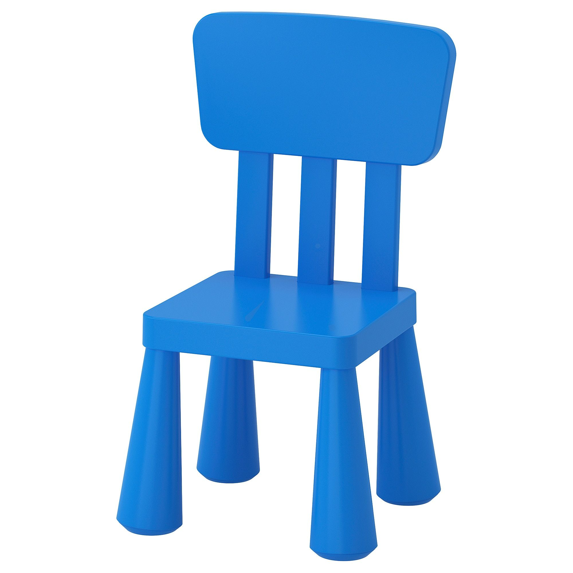 Mammut Children S Chair Indoor Outdoor Blue Ikea Childrens