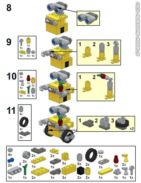 Wall E Instructions Lego Plans And Other Creations Pinterest
