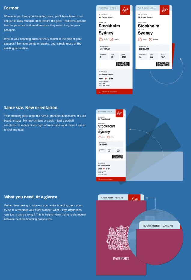 Airlines, Listen Up: Here's the Boarding Pass You Should Be Using. Boarding pass design by PeterSmart