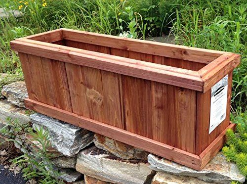 Set Of 2 Pennington Solid Wood Cedar Outdoor Planter Box Heartwood