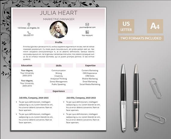 "Beautiful Resume Templates Creative Resume Template ""julia"" Visit Our Etsy Shop For More"