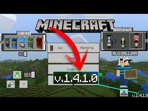 Nueva Actualizacion De Minecraft Pe 1 4 1 0 Oficial Apk Sin Licencia Minecraft Server Videos