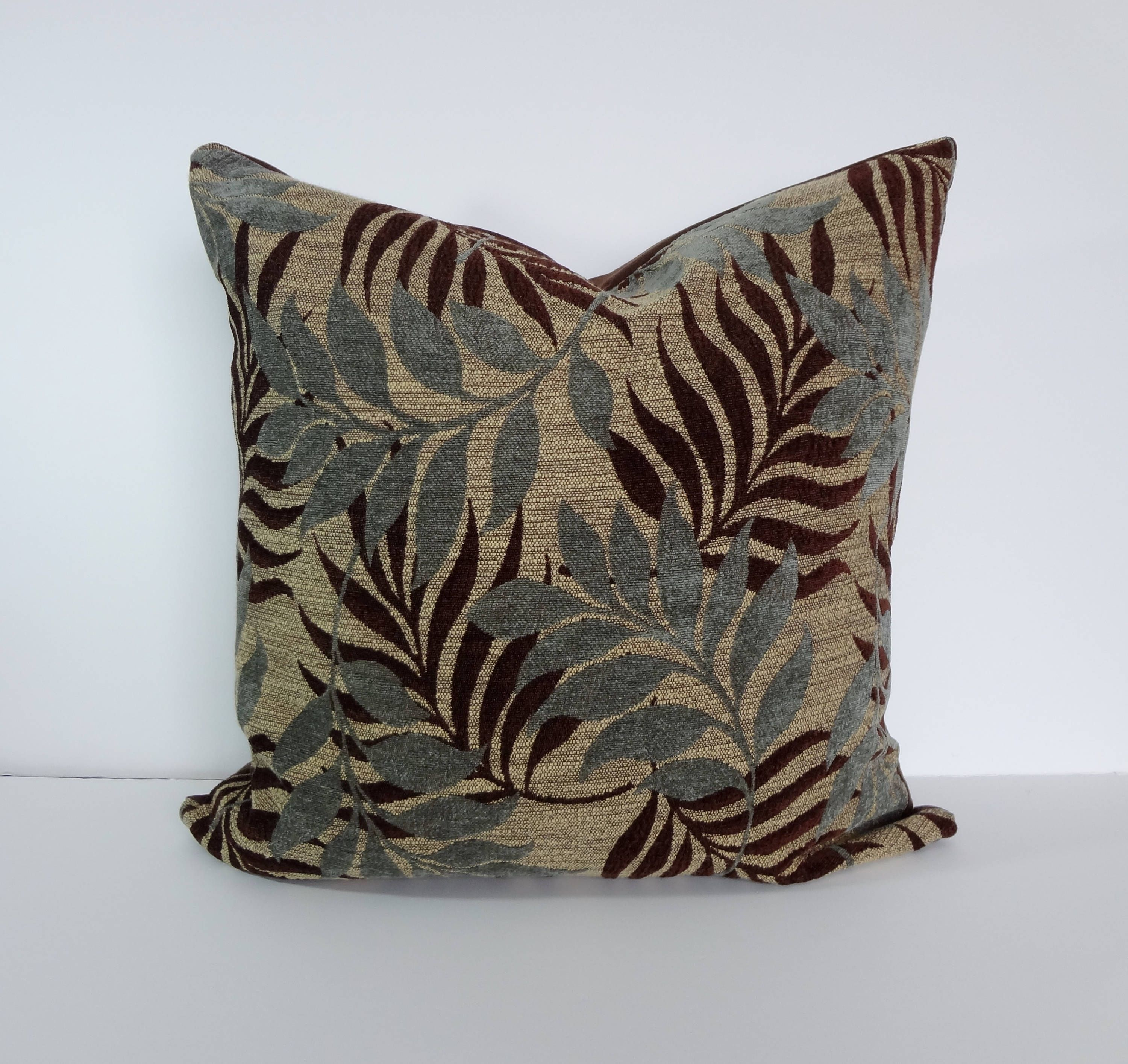 Sage Green and Brown Decorative Pillow Cover, 18 x 18, Pillow ...