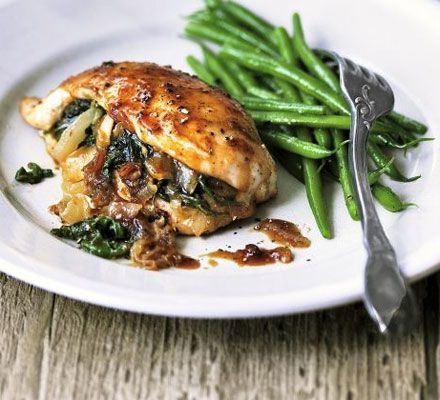 Chicken stuffed with spinach dates recipe recipes bbc good chicken stuffed with spinach dates recipe recipes bbc good food forumfinder Choice Image