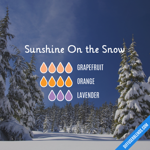Sunshine On the Snow - Essential Oil Diffuser Blend #winterdiffuserblends