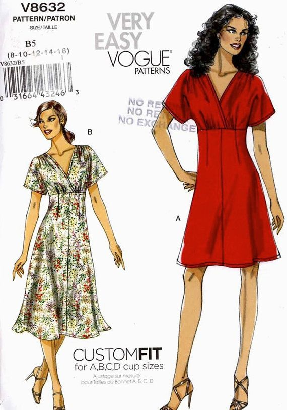 Summer dress pattern Very Easy Vogue Custom Fit dress by HeyChica ...
