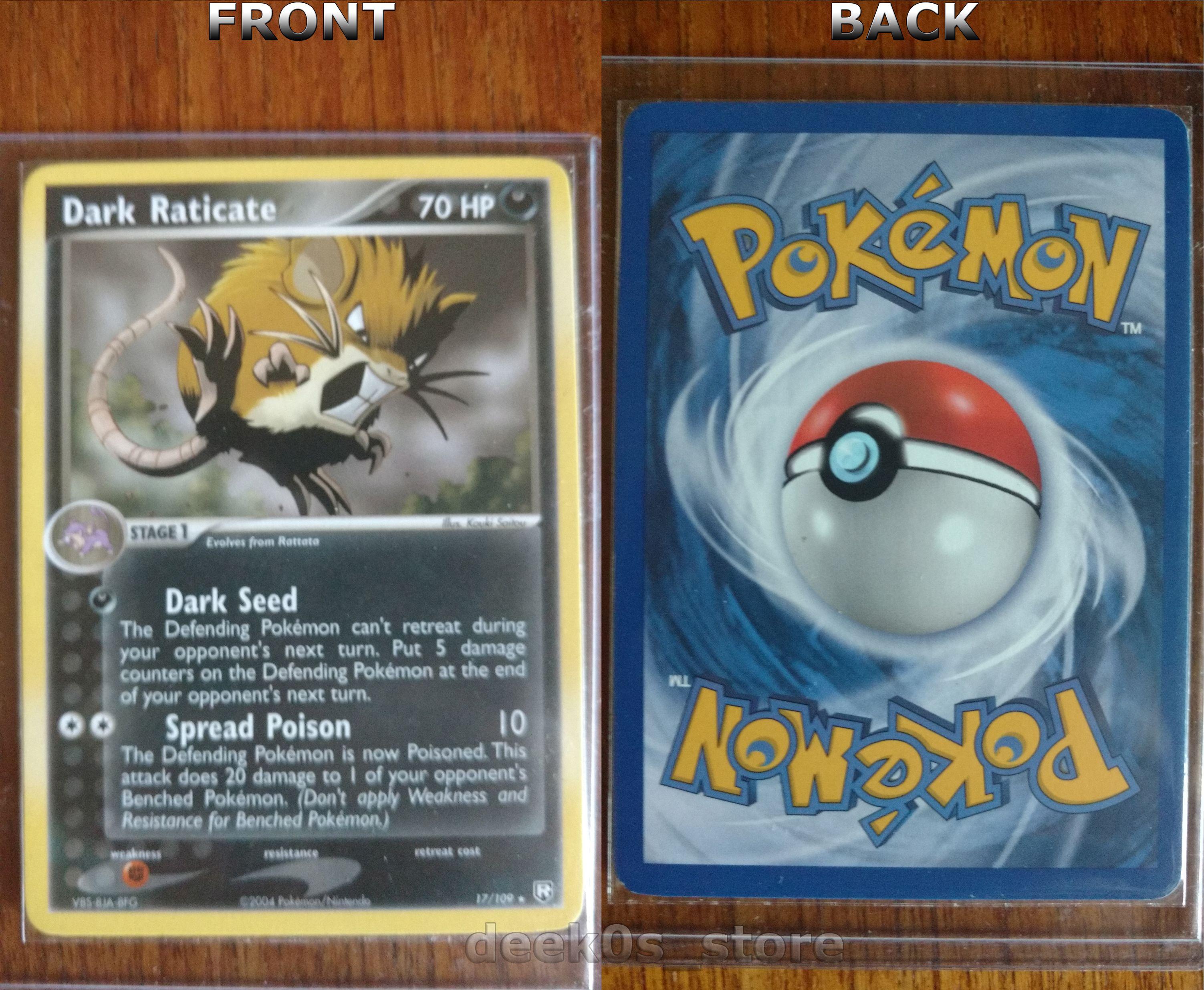 Dark raticate 17109 team rocket returns is a rare pokemon