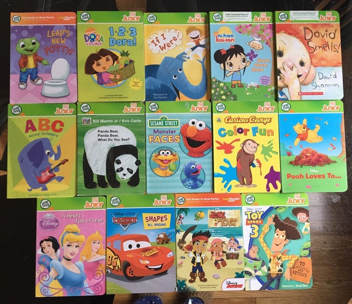 LeapFrog Tag Junior Reader and LOT 14 Books for Boy or Girl