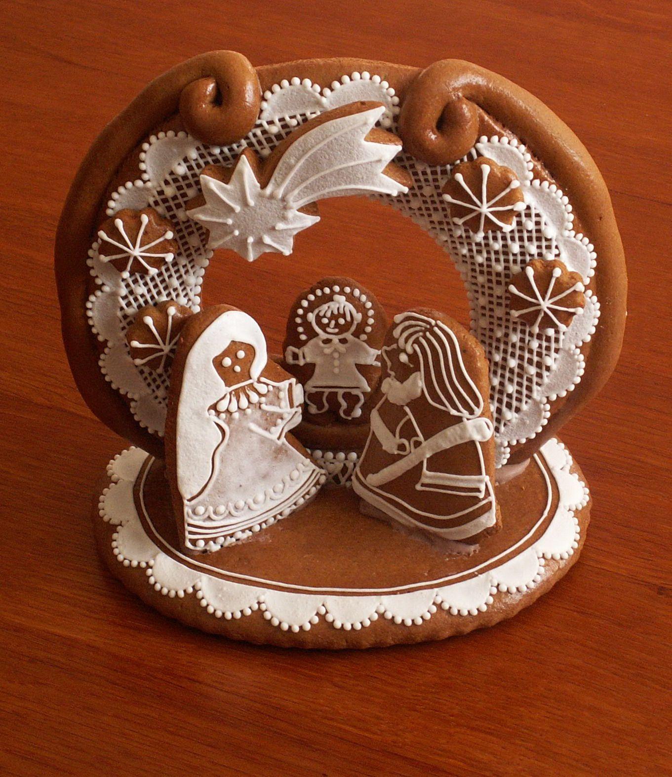 perník Gingerbread Nativity-Yes, please! | Christmas gingerbread, Cookie decorating, Gingerbread