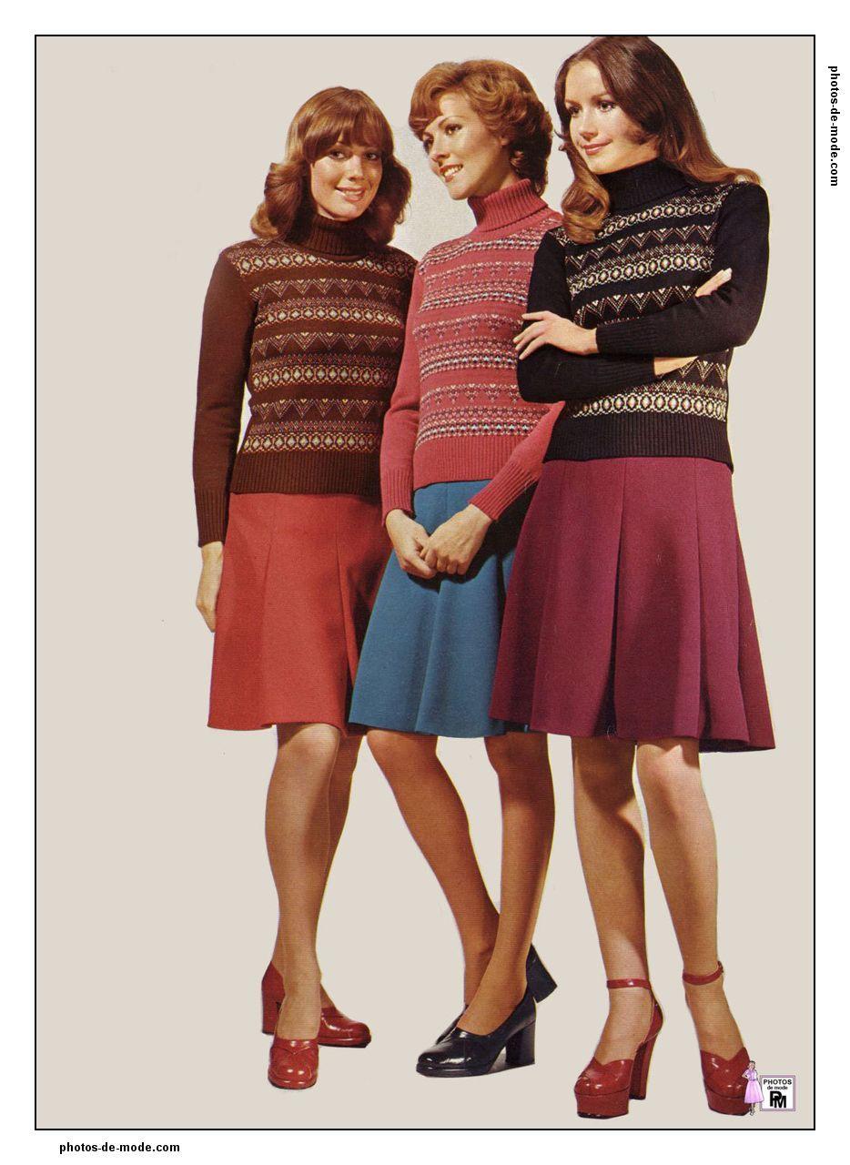 Mini jupe 1974 seventies pinterest mini jupe ann es 70 et jupes - Mode annee 70 femme ...