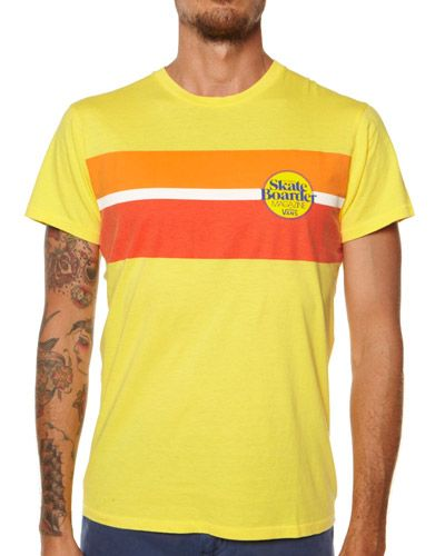 2fece462ed SURFSTITCH - MENS - TEES - SLIM FIT TEES - VANS X SKATEBOARDER CLASSIC  STRIPE TEE - OVERDYE YELLOW