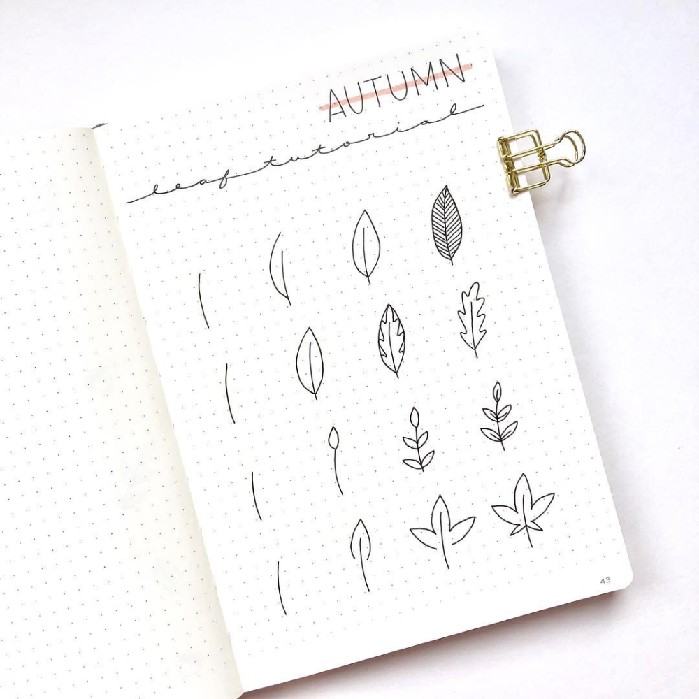 bullet journal fall leaves Google Search Bullet