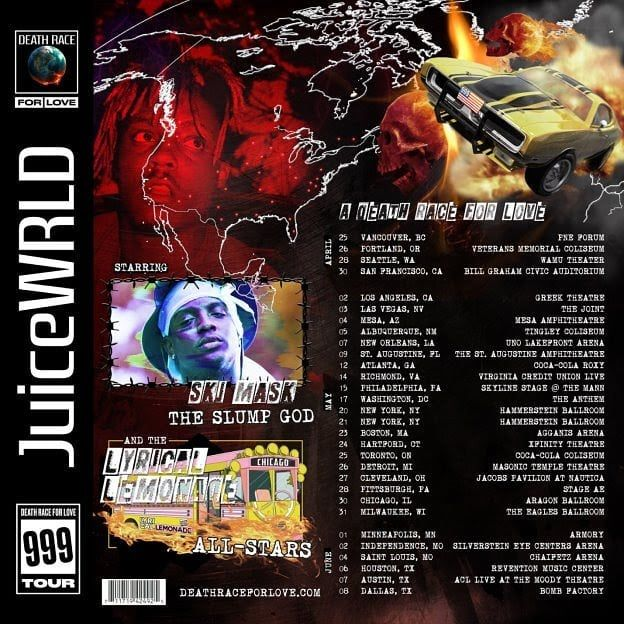 JUICE WRLD ANNOUNCES NORTH AMERICAN TOUR AND LAUNCHES