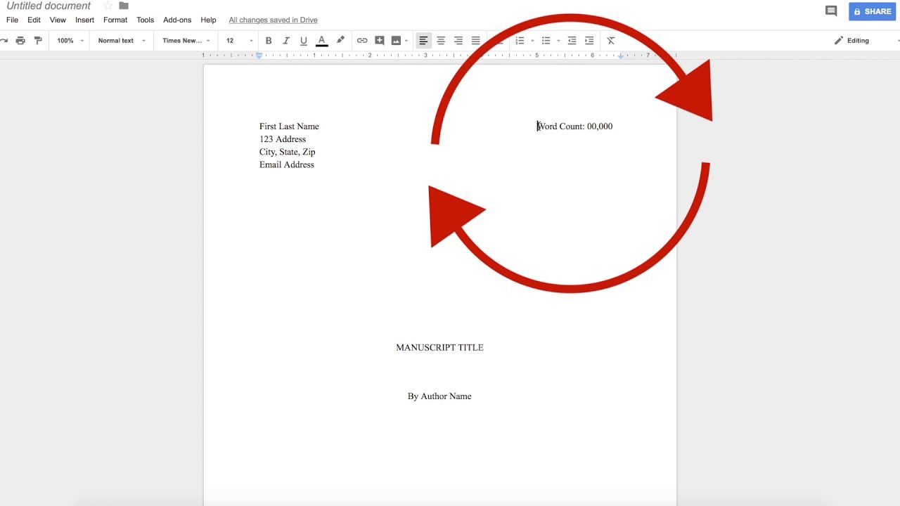 How To Write A Book In Google Docs The Basics Of Formatting A Manuscript Writers Writing Writing A Book Writing Writing Help