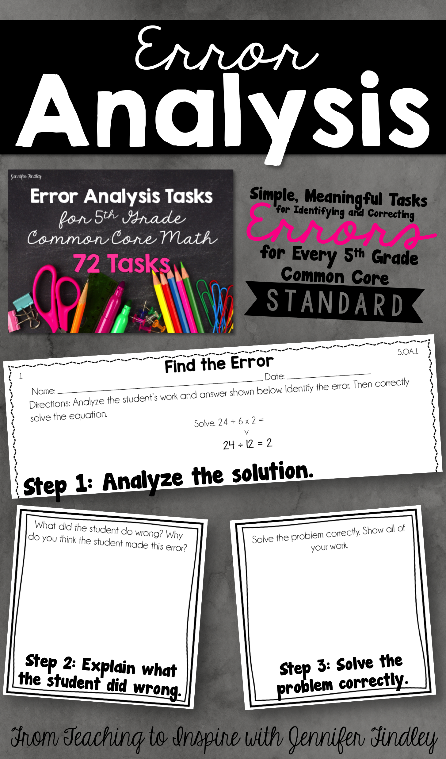 Error analysis math tasks common cores math and math skills error analysis math tasks fandeluxe Image collections