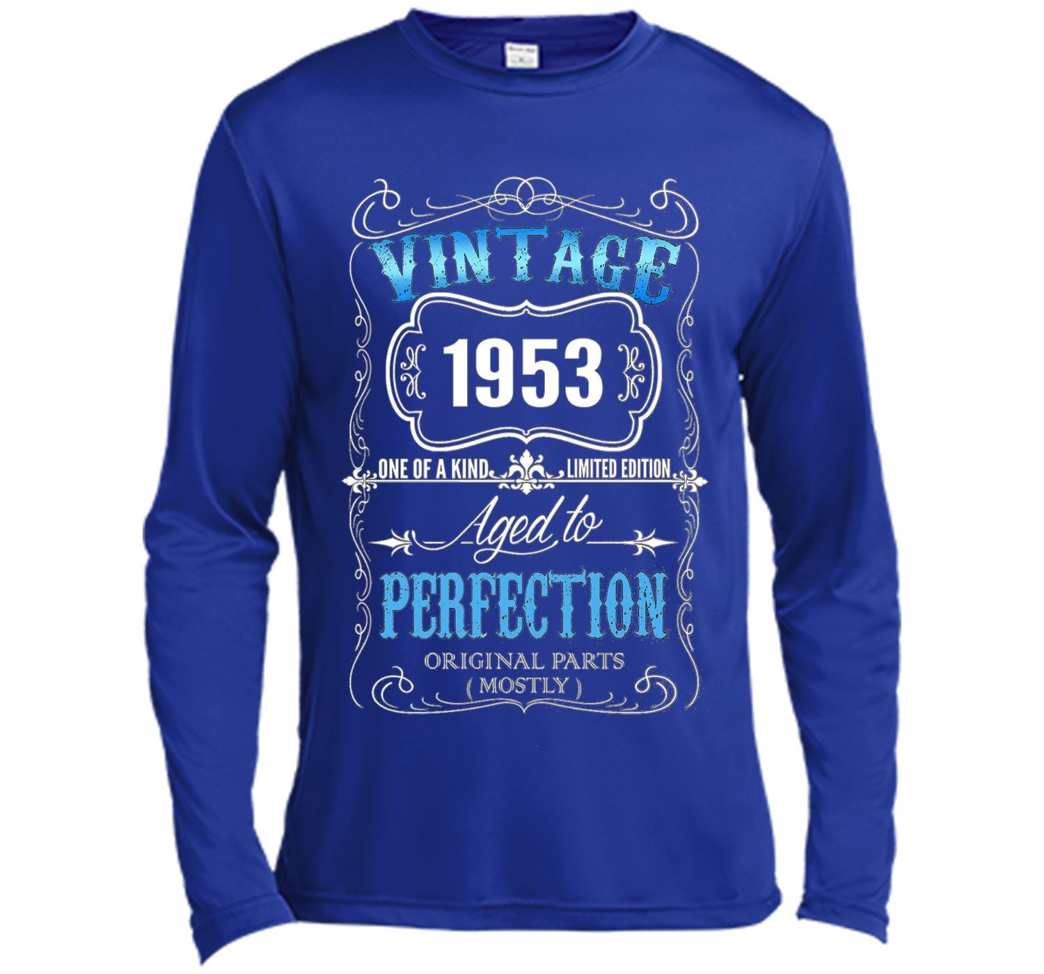 Vintage Born In 1953 Tshirt 64 Years Old Birthday