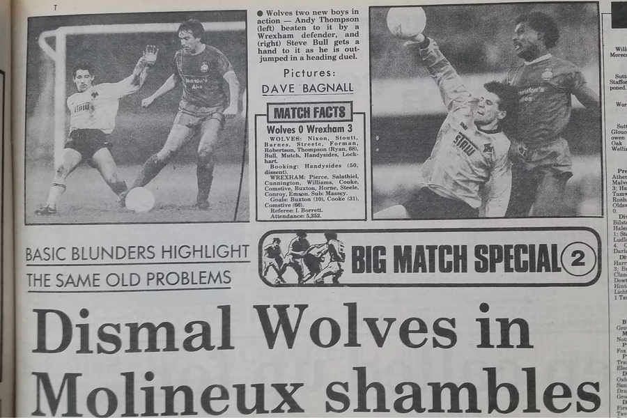 Wolves were 'pathetic' on Bully's debut report It was 30