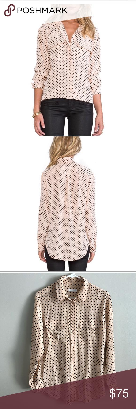 4c69069b5c Equipment silk button down heart print blouse Super cute equipment Anjelica  signature blouse. 100%