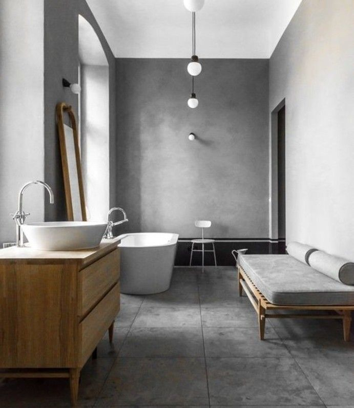 formidable ide salle de bain taupe baignoire blanche et vasque poser coin dtente