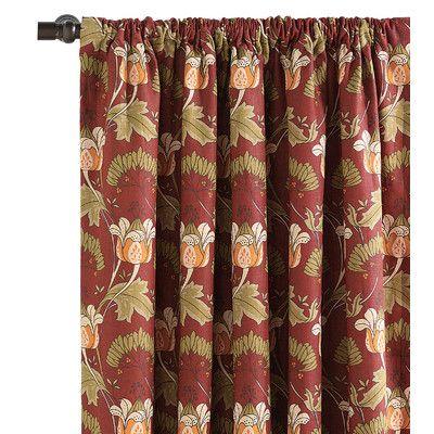 Eastern Accents Sullivan Linen Rod Pocket Single Curtain Panel