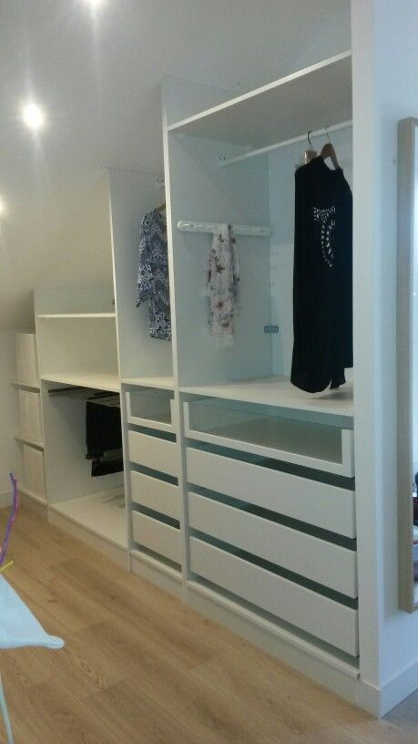 Adapter un dressing ikea en sous pente walk in wardrobes pinterest se - Agencement dressing ikea ...