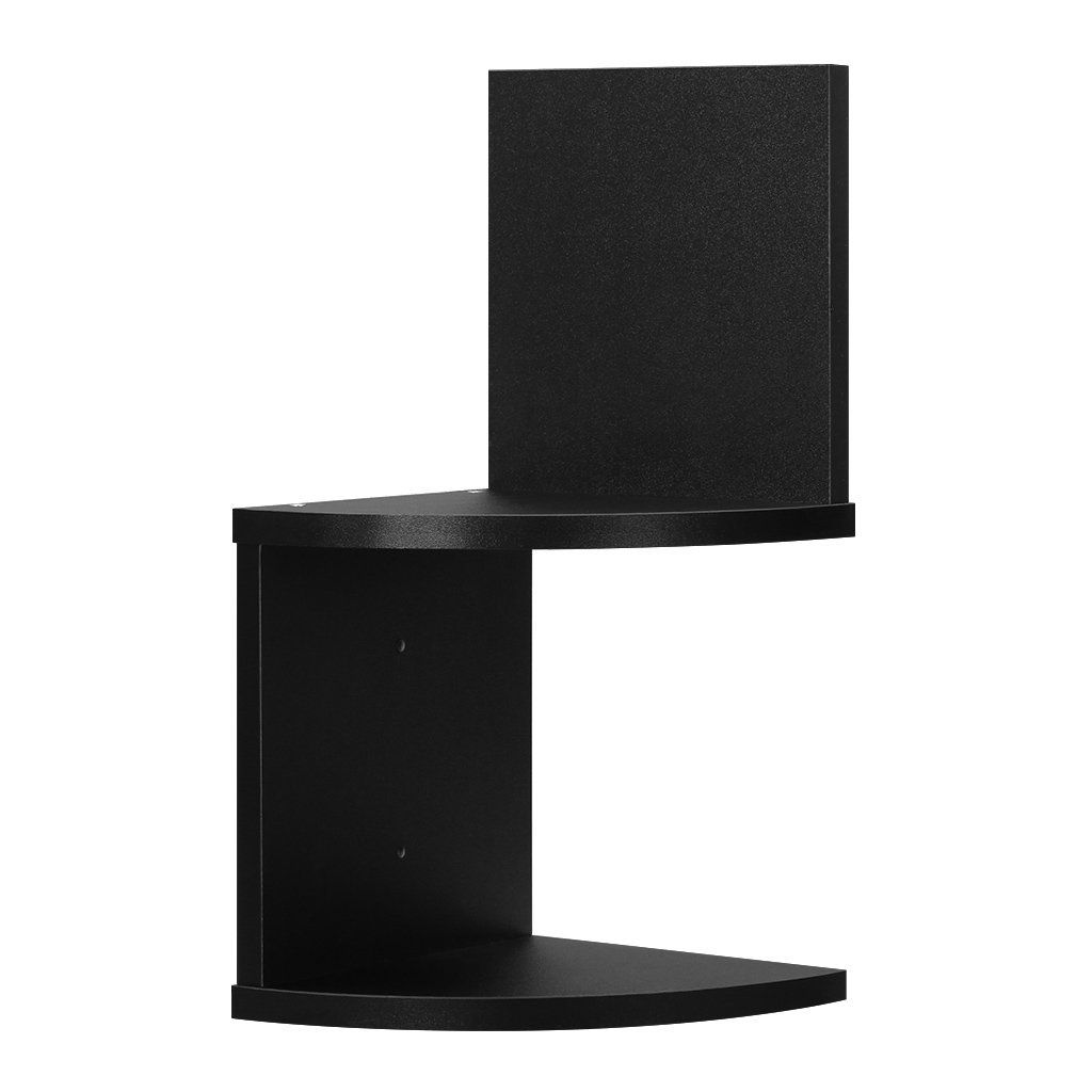 Finether 2 Tier Zig Zag Floating Wall Corner Shelf Bedroom Wall Mounted Shelving Book Storage Display Organizer Black You Can Get More Details Here Corne