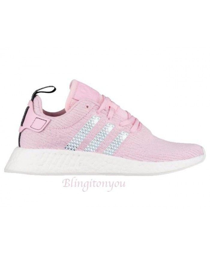 Adidas NMD Pink Trainers with Swarovski Crystals Crystals Crystals | Work outfits 61d83e