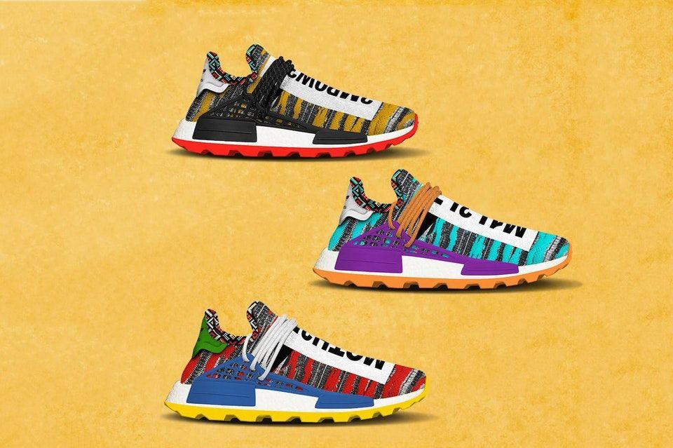 The Pharrell Williams x adidas Originals Solar NMD Hu Pack Is Slated