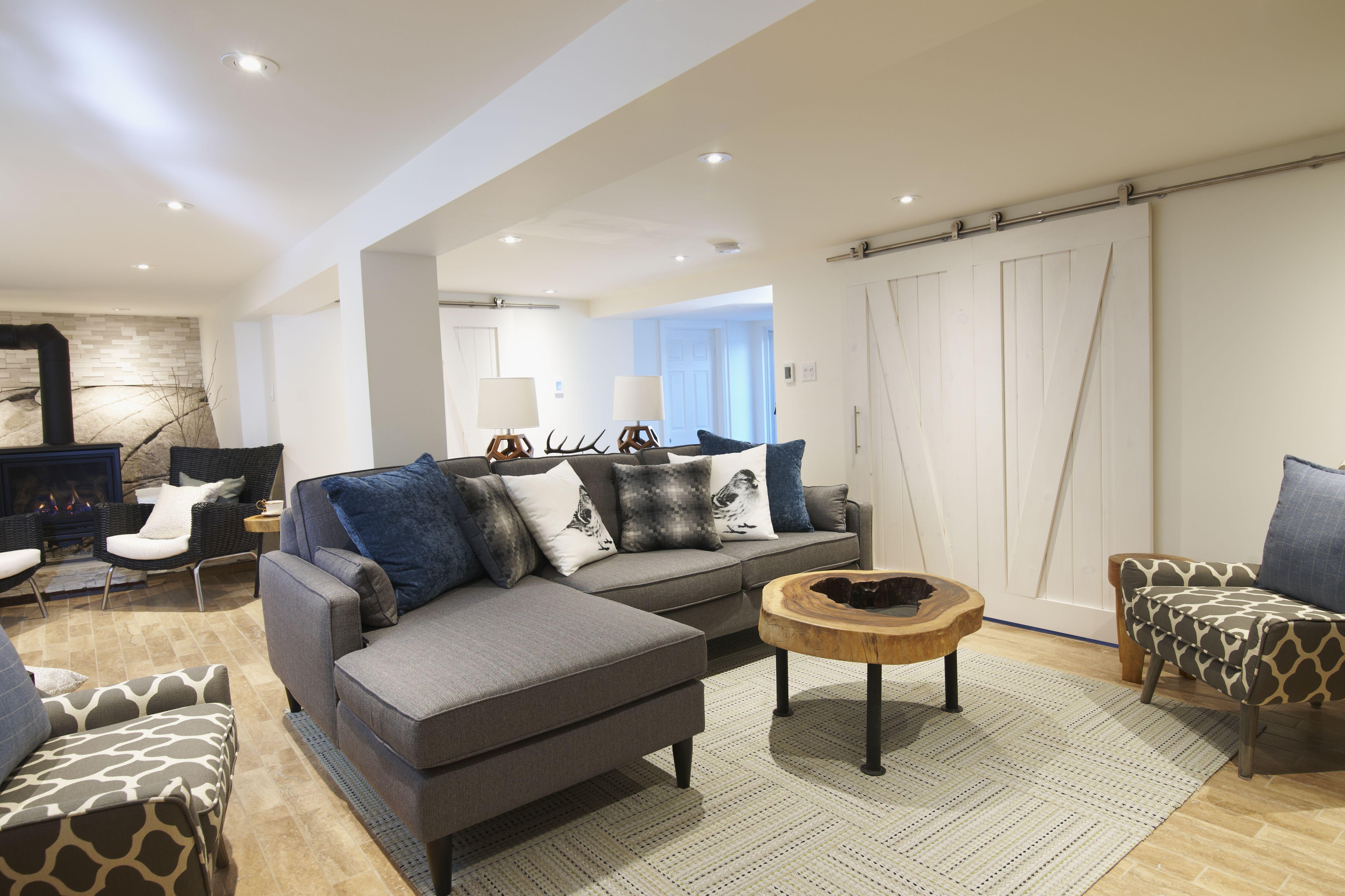 cottage basement  living room designs room design home