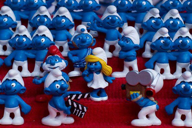 Image result for Petrol Station Smurfs 1980s