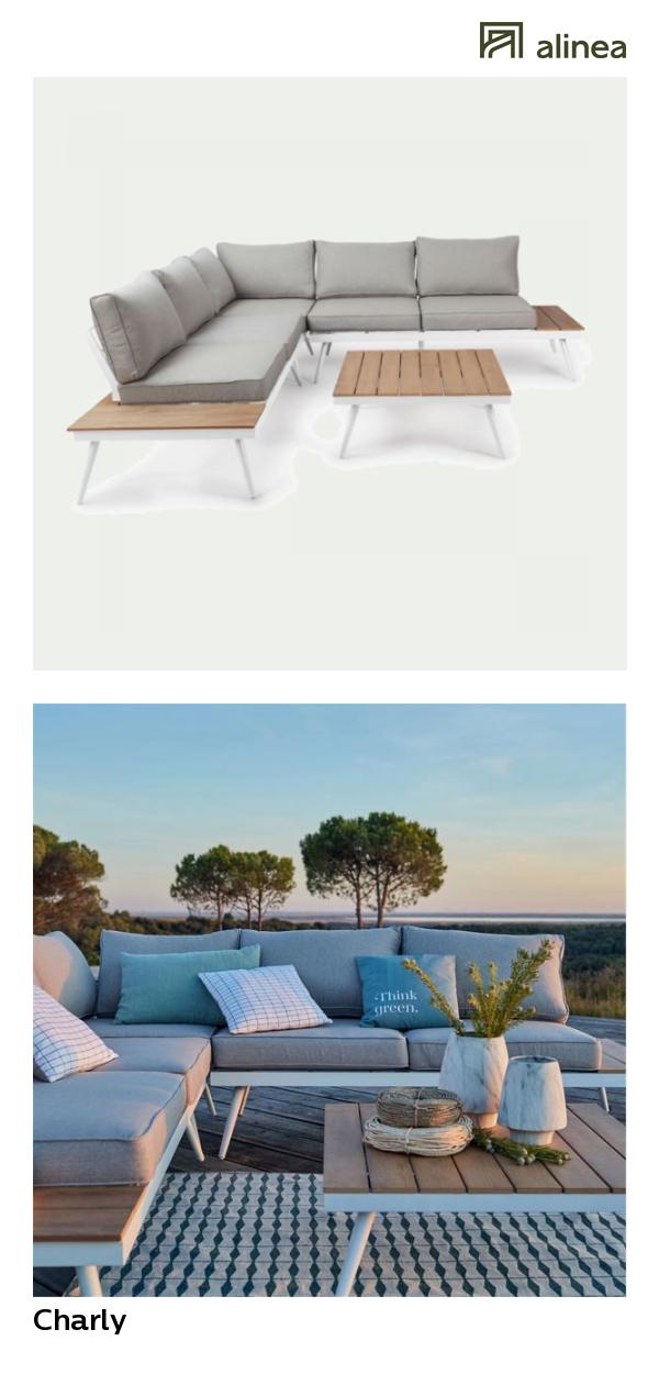 alinea : charly salon de jardin gris en alu et polywood (4 à 6 ...