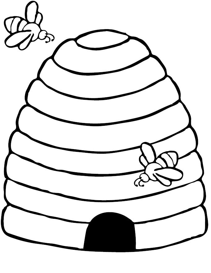 Bee Coloring Pages Preschool And Kindergarten Bee Coloring Pages Bee Crafts For Kids Bee Hive Craft