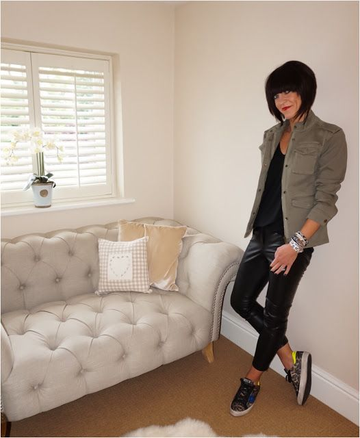 f3b309f516c My Midlife Fashion, Hush military jacket, coco bay hipanema tahiti  bracelet, french connection atlantic faux leather trousers, golden goose  superstar ...