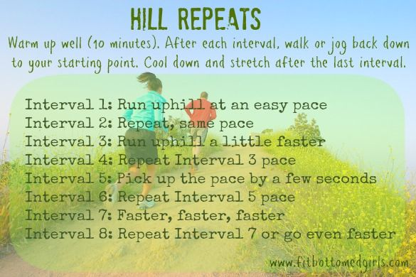Want to be a faster and stronger runner? Try FBG Kristen's hill repeats workout!