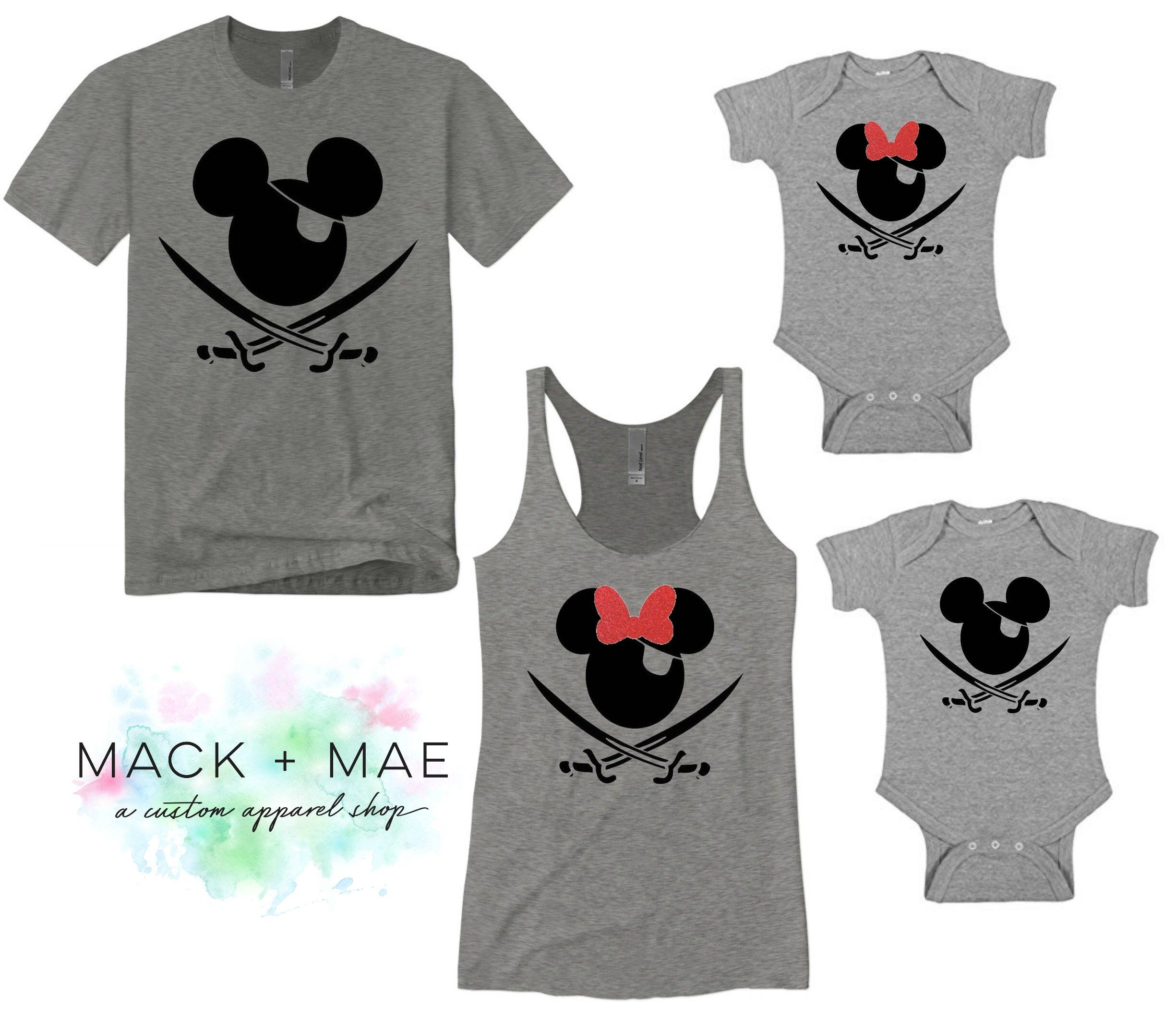 d673f3741 Pirate Mickey or Minnie Shirts, Disney World Matching Family Tops, Disney  Vacation, Men's Women's Kids, Disney Cruise, Pirate's Life for Me