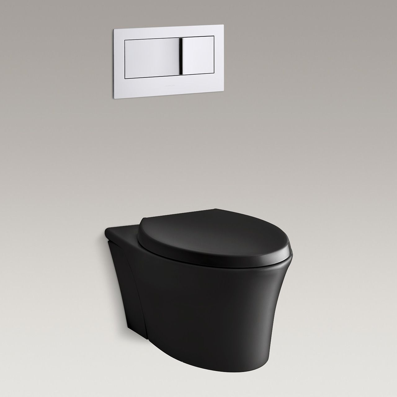 the spacesaving veil wallhung toilet with its concealed tank and