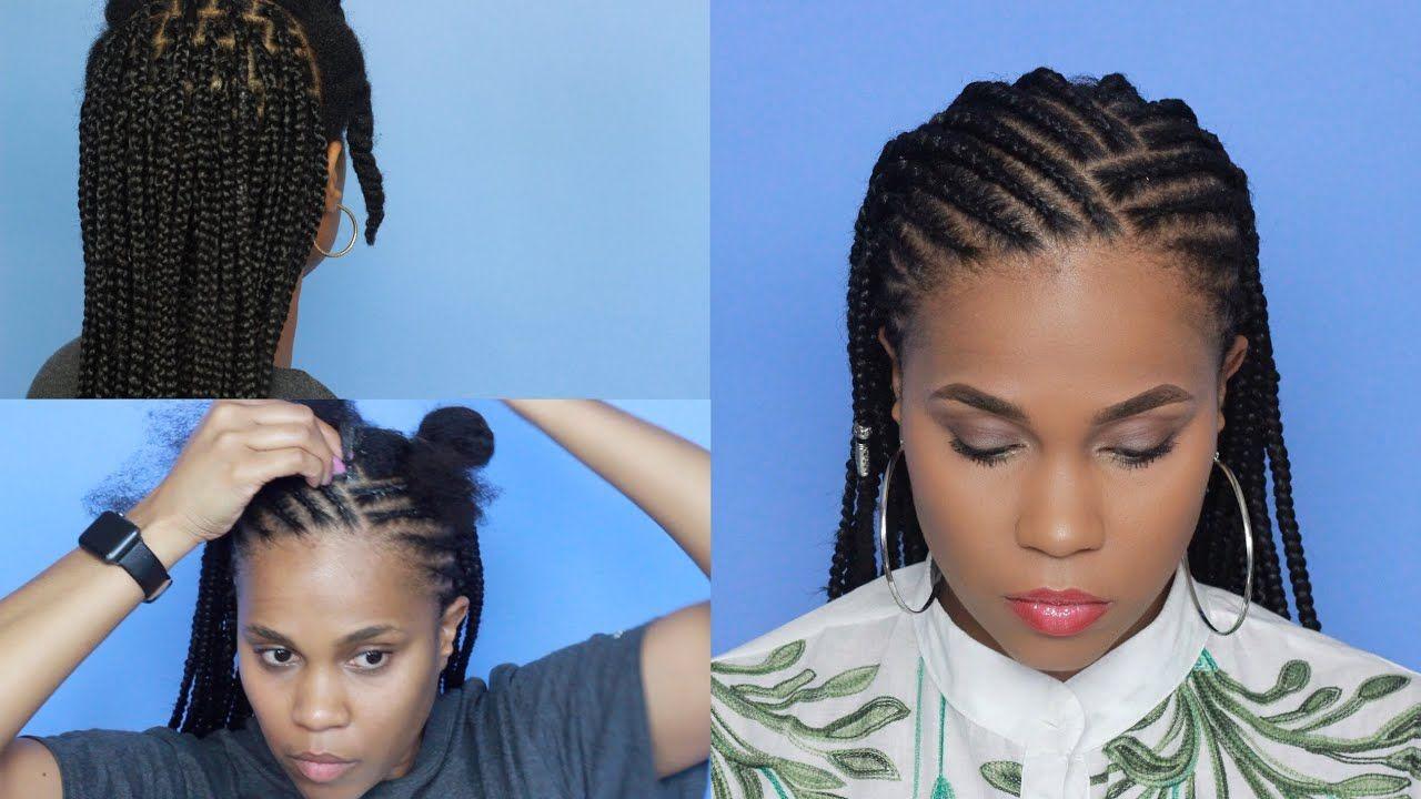 Cornrows X Box Braids Fun Vacation Hairstyle Youtube Box Braids Styling Box Braids Hairstyles Cornrow Hairstyles