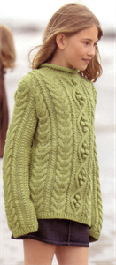 Bergere de France Childrens Knitting Patterns Roll Collar Sweater Knitting Pattern