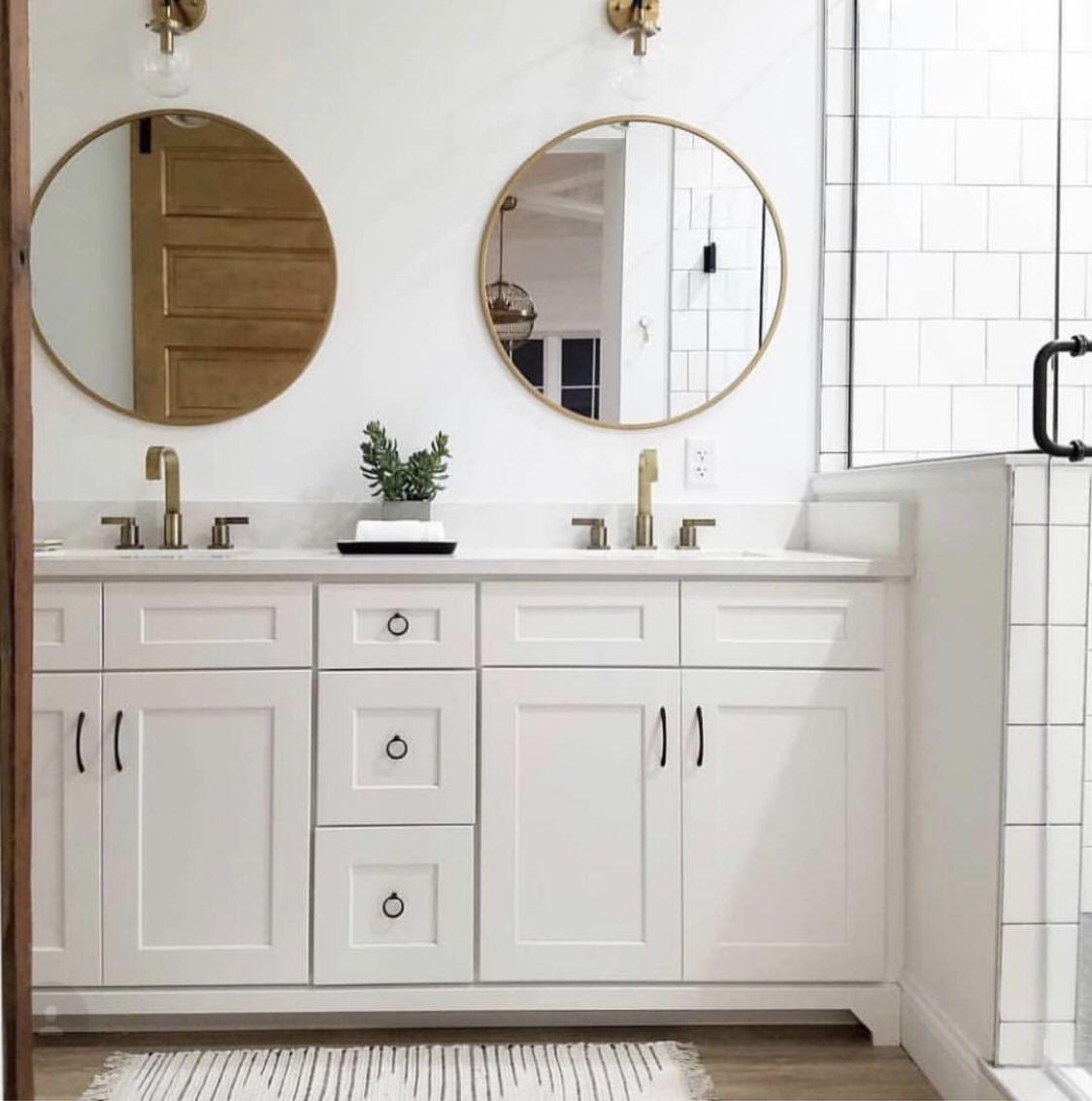 Senya Gold Leaf Round Mirror Round Mirror Bathroom Bathroom Mirror Bathroom Decor