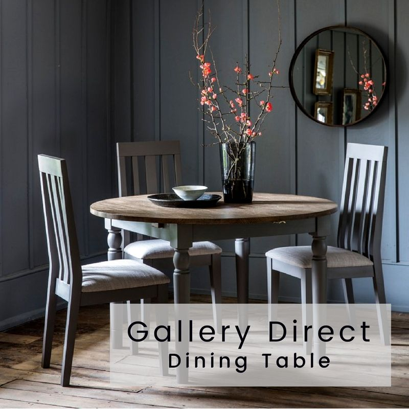 Gallery Direct Cookham Round Extending Dining Table Grey Cfs